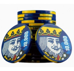 500 x King Ceramic Poker Chips