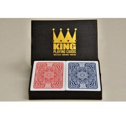 KING Playing cards Twin Pack - Medieval 100% Plastic (Poker/Jumbo)